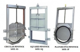 CIRCULAR AND SQUARED GUILLOTINE PENSTOCKS REINFORCED SERIES - PENSTOCK